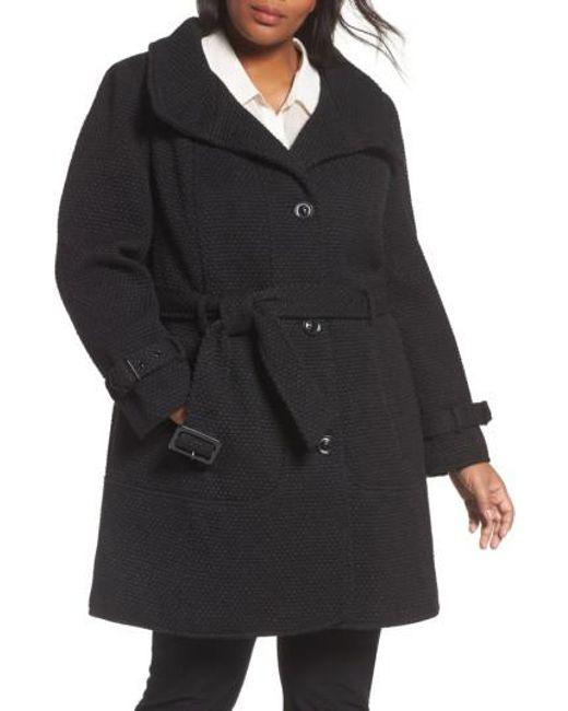 Gallery | Black Waffle Woven Coat | Lyst