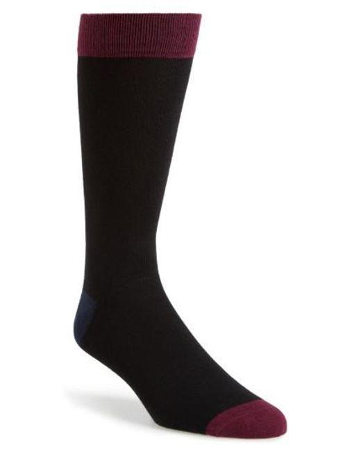 Ted Baker | Black Gele Colorblock Socks for Men | Lyst