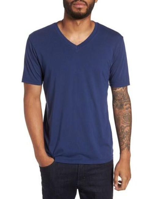 Goodlife   Blue V-neck T-shirt for Men   Lyst