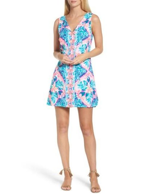 Lilly Pulitzer   Blue Lilly Pulitzer Tanya Skirted Romper   Lyst
