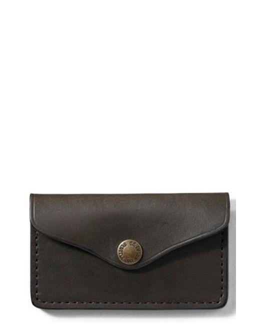 Filson   Black Snap Leather Wallet   Lyst