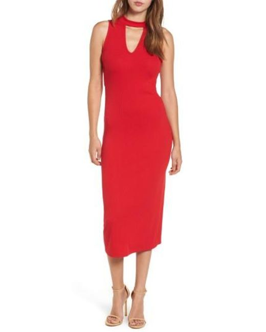 Soprano | Red Body-con Knit Dress | Lyst