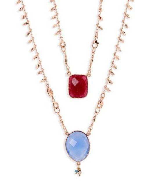 Gas Bijoux | Multicolor Scapulaire Convertible Semiprecious Stone Necklace | Lyst
