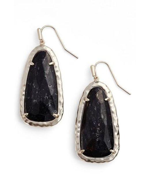Kendra Scott | Black Lyn Drop Earrings | Lyst