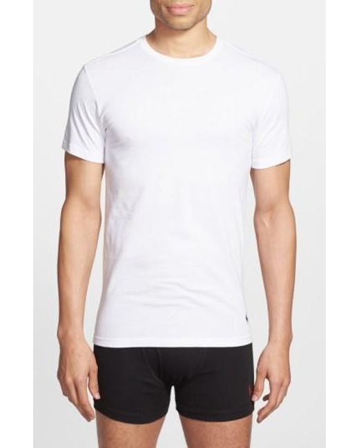 Polo Ralph Lauren | White Slim Fit Crewneck T-Shirt, (3-Pack) for Men | Lyst