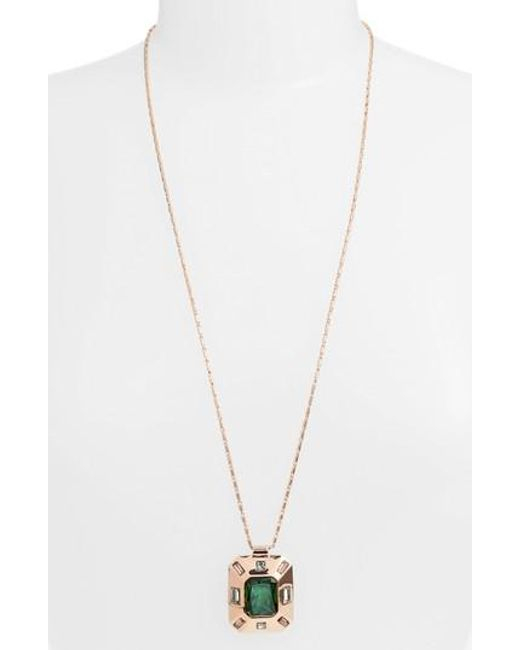 Vince Camuto | Metallic Pendant Necklace | Lyst