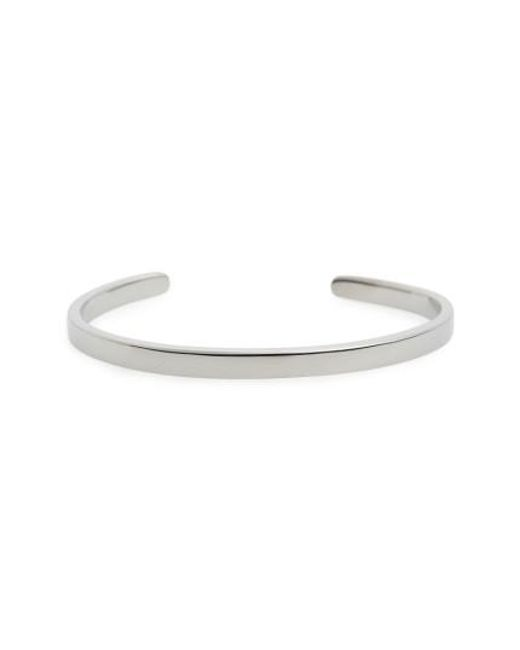 Miansai   Metallic Single Cuff Bracelet   Lyst