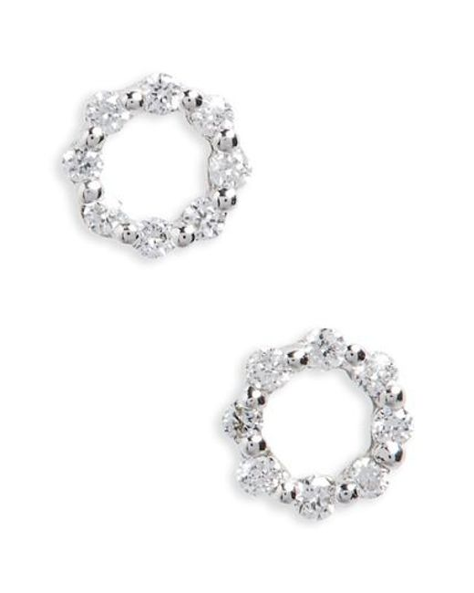 Bony Levy | Metallic Simple Obsessions Diamond Stud Earrings | Lyst