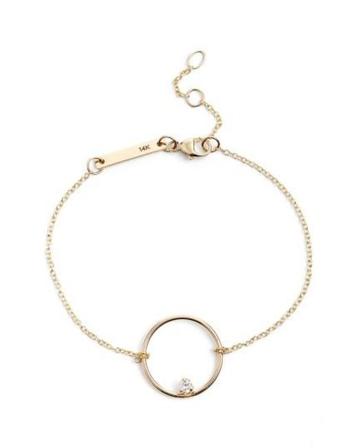Zoe Chicco | Metallic Circle Station Bracelet | Lyst