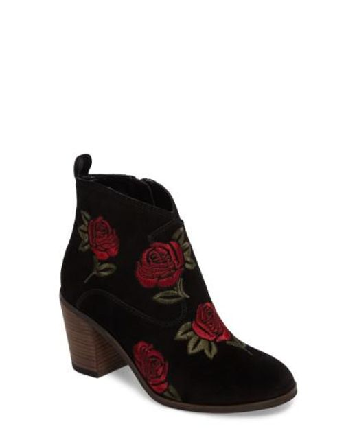 Lucky Brand - Black Pexton Embroidered Bootie - Lyst
