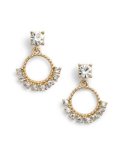 Marchesa   Metallic Drop Earrings   Lyst