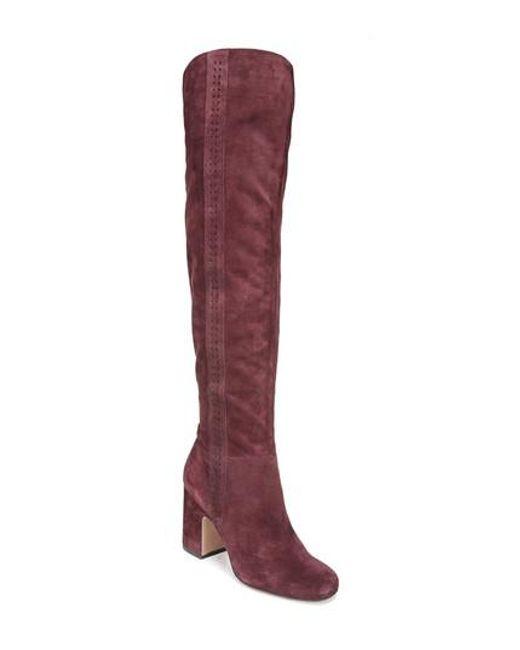 Sarto | Purple Laurel Over The Knee Boot | Lyst