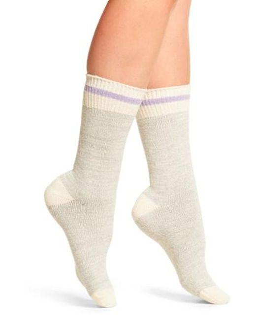 Free People | Gray Albury Crew Socks | Lyst