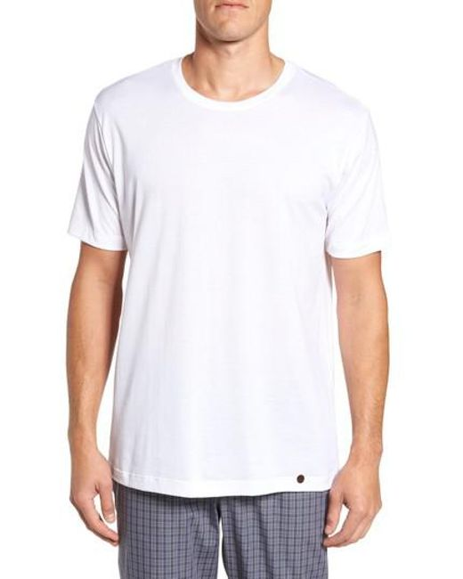 Hanro | White Night & Day Crewneck T-shirt for Men | Lyst