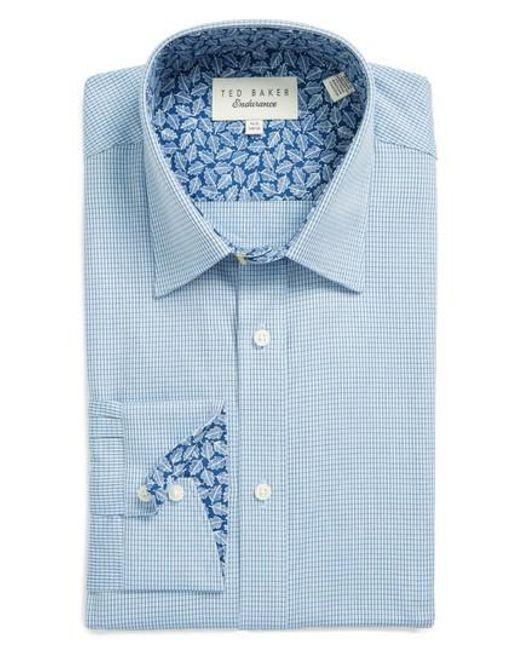 Ted Baker   Blue Endurance Trim Fit Dress Shirt for Men   Lyst