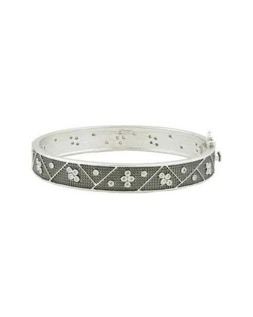 Freida Rothman | Metallic Industrial Finish Bangle Bracelet | Lyst