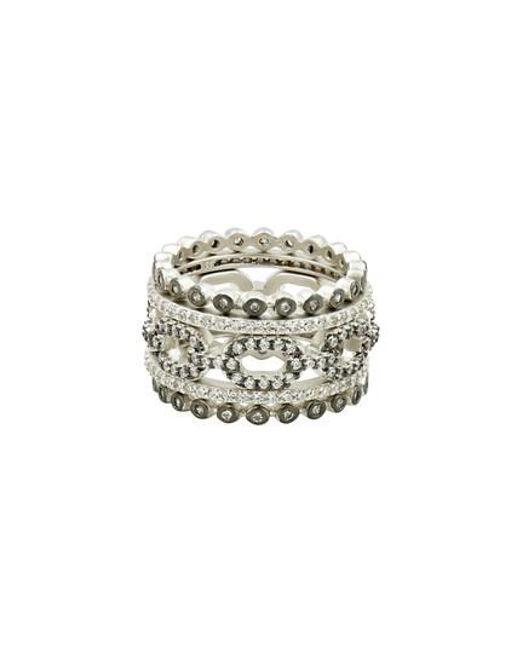Freida Rothman   Metallic Set Of 5 Stacking Rings   Lyst