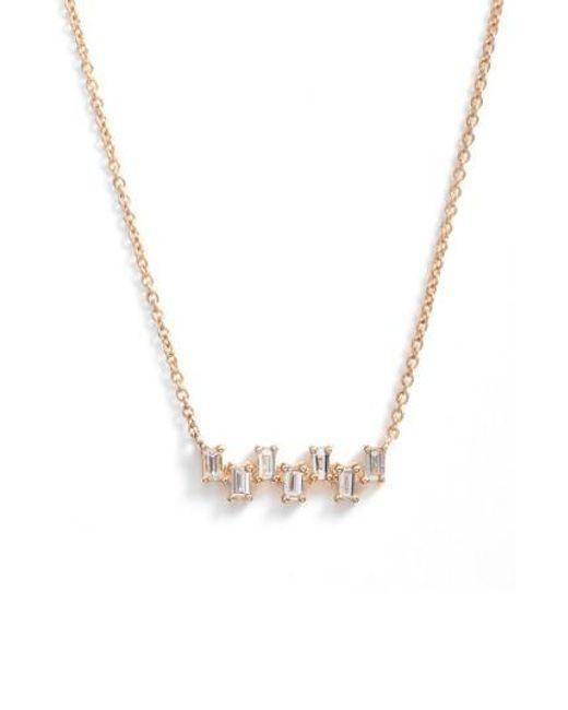 Dana Rebecca | Metallic Sadie Diamond Bar Pendant Necklace | Lyst