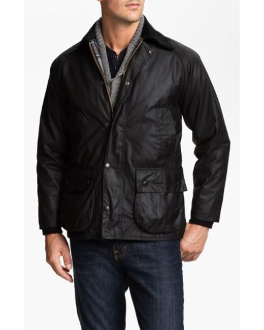 Barbour - Black 'bedale' Regular Fit Waxed Cotton Jacket for Men - Lyst