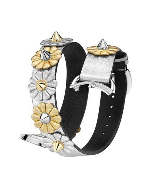 Fendi | Metallic Selleria 17mm Embellished Leather Watch Strap | Lyst