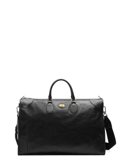 8ce9cc64e3a5 Gucci - Black Large Leather Tote - for Men - Lyst ...