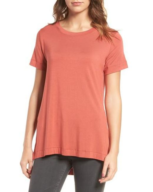 Amour Vert | Orange Paola High/low Tee | Lyst