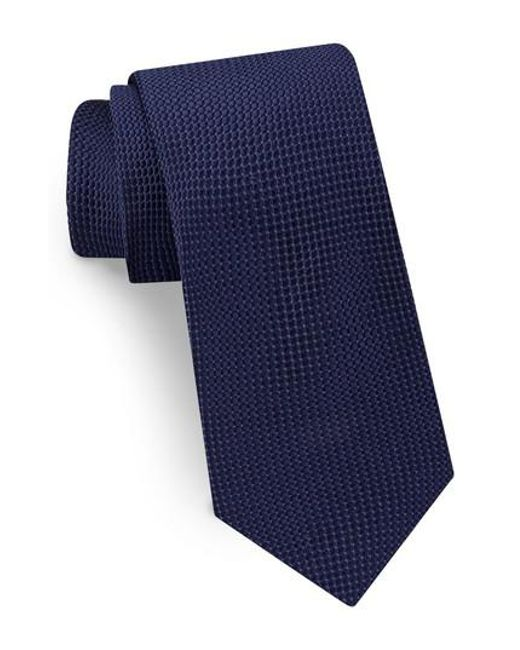Ted Baker - Blue Solid Silk Tie for Men - Lyst