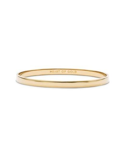 Kate Spade | Metallic 'idiom - Heart Of Gold' Bangle | Lyst