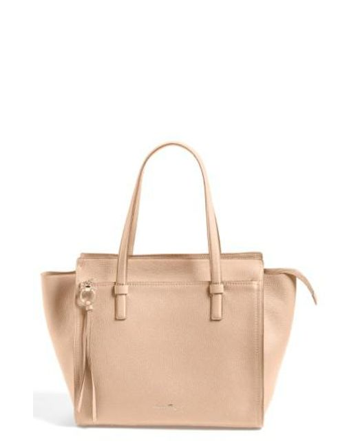 Ferragamo | Natural 'fill Up - Large' Leather Tote | Lyst