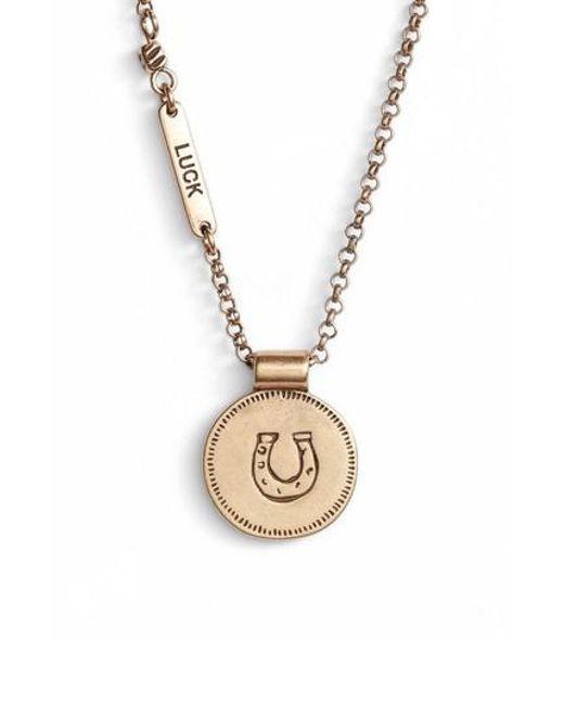 Treasure & Bond | Metallic Pendant Necklace | Lyst