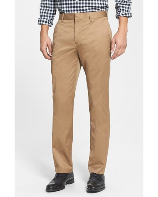 Bonobos | Natural 'weekday Warriors' Non-iron Straight Leg Cotton Pants for Men | Lyst