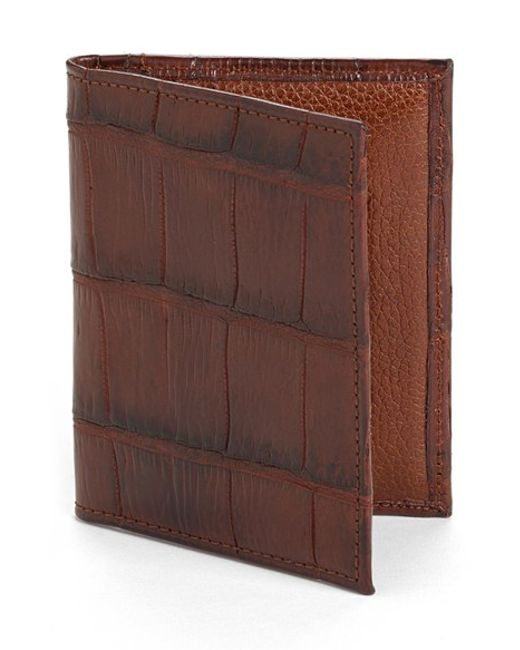 Martin Dingman | Brown Jameson Matte Finish Genuine Alligator Leather Wallet for Men | Lyst