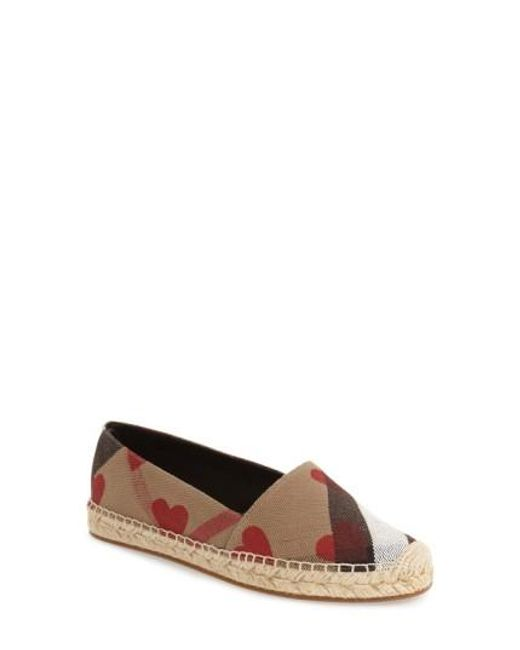 Burberry | Multicolor Hodgeson Check Print Espadrille Flat | Lyst