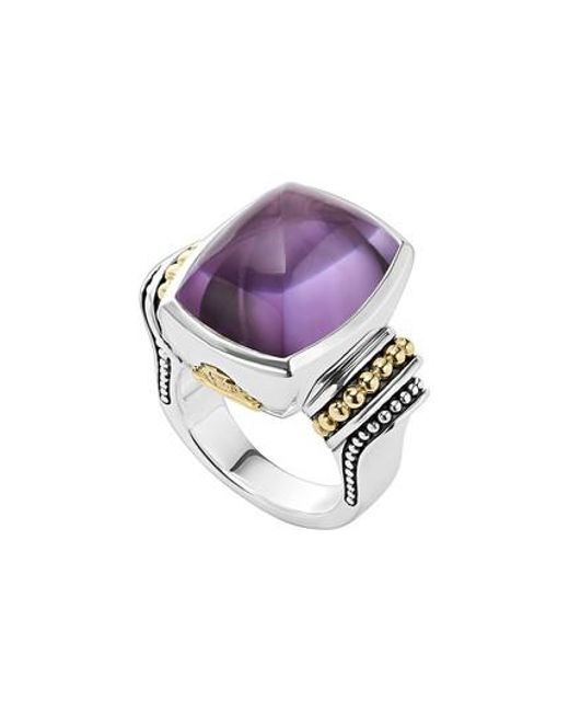 Lagos | Purple 'caviar Color' Large Semiprecious Stone Ring | Lyst