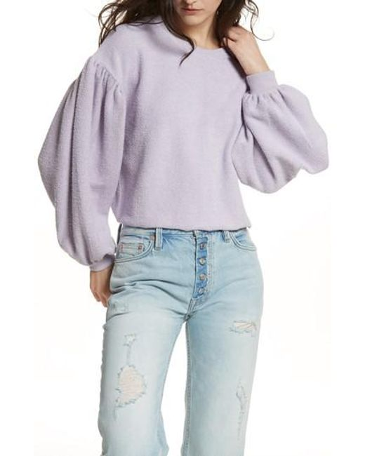 Free People - Purple Sleeves Like These Sweater - Lyst