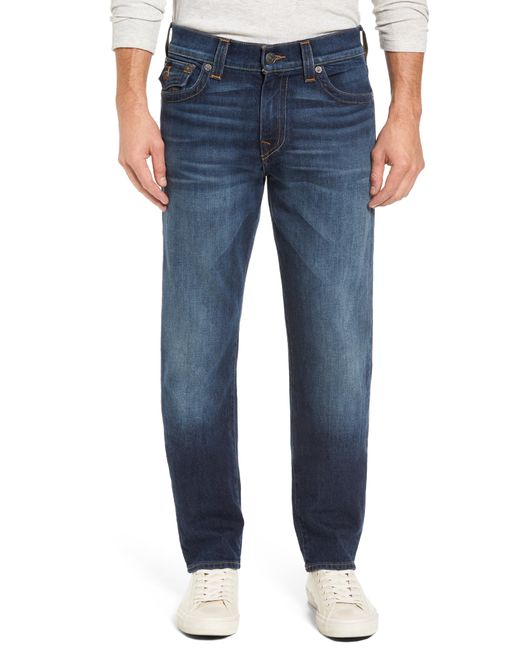 True Religion - Blue Geno Straight Leg Jeans for Men - Lyst