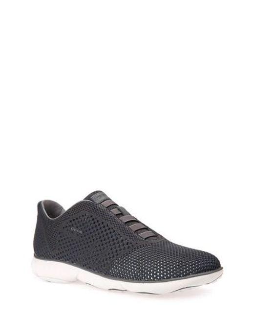 Geox Nebula 42 Laceless Knit Sneaker in Gray for Men - Lyst 69143b770f