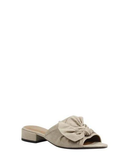 J. Reneé | Natural Sattuck Slide Sandal | Lyst