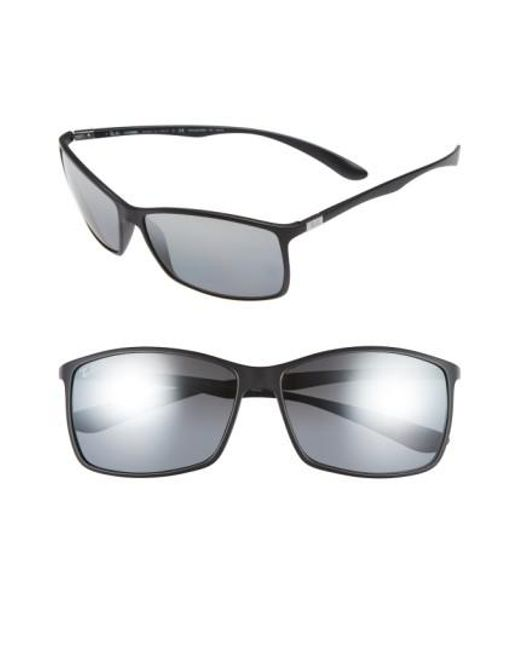 Ray-Ban | Black 'tech Liteforce' 62mm Polarized Sunglasses for Men | Lyst