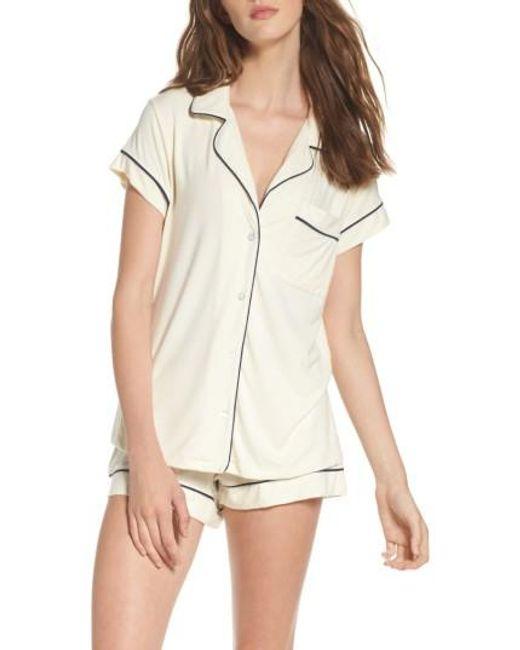 Eberjey   White 'gisele' Shorty Pajamas   Lyst