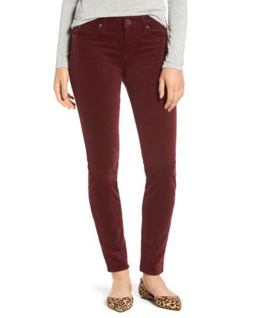 Kut From The Kloth | Red Diana Stretch Corduroy Skinny Pants | Lyst
