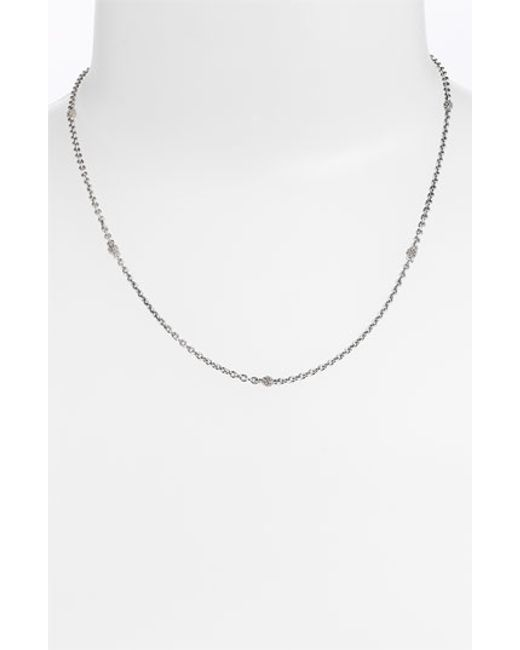 Lagos | Metallic Caviar Station Chain Necklace | Lyst