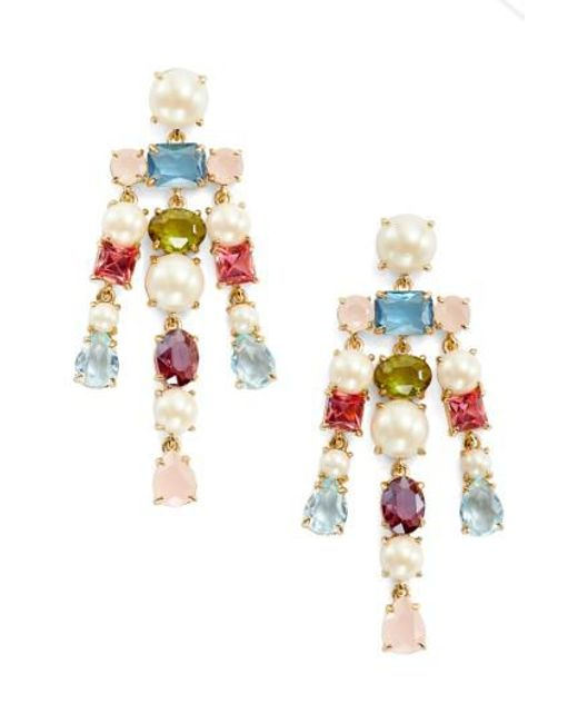 Kate Spade   Metallic A New Hue Crystal Drop Earrings   Lyst