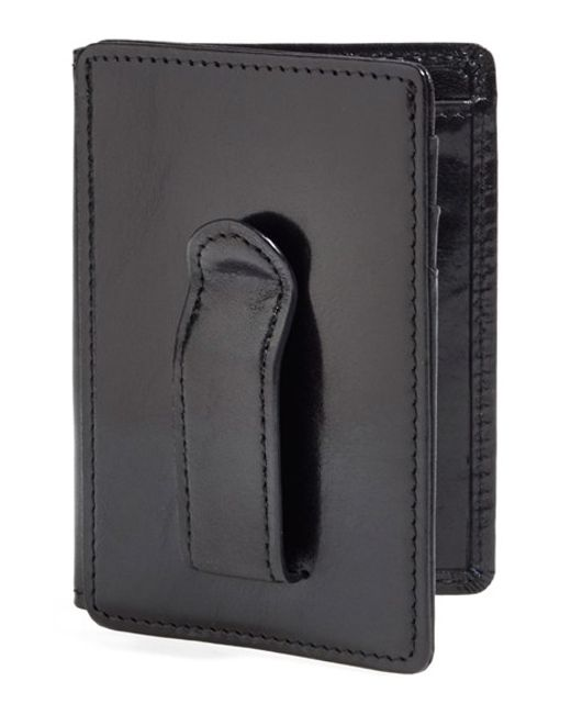 Bosca | Black 'old Leather' Front Pocket Id Wallet for Men | Lyst