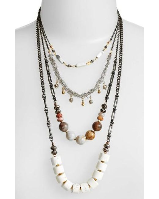 Nakamol | White Multistrand Necklace | Lyst