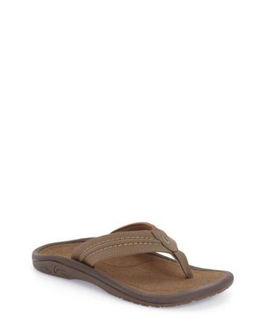 Olukai - Black 'hokua' Flip Flop for Men - Lyst