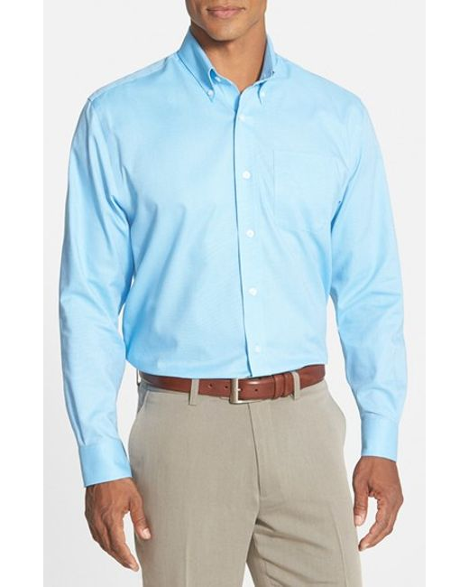 Cutter & Buck | Blue 'nailshead' Classic Fit Sport Shirt for Men | Lyst