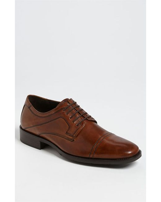 Johnston & Murphy | Brown 'larsey' Cap Toe Derby for Men | Lyst