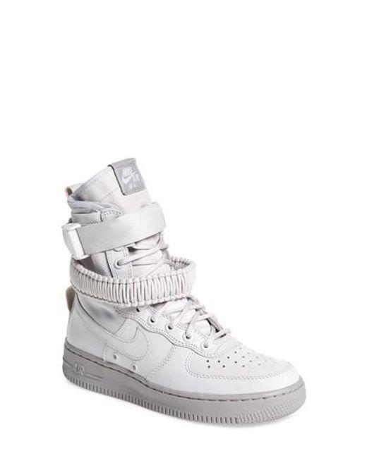 Nike | Gray Sf Air Force 1 High Top Sneaker | Lyst ...