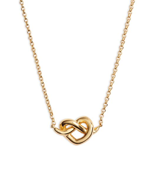 Kate Spade - Metallic Loves Me Knot Mini Pendant Necklace - Lyst
